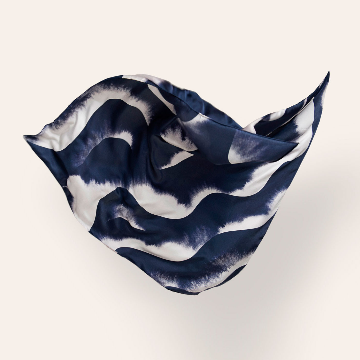 Silk Scarfs with Graphic Patterns