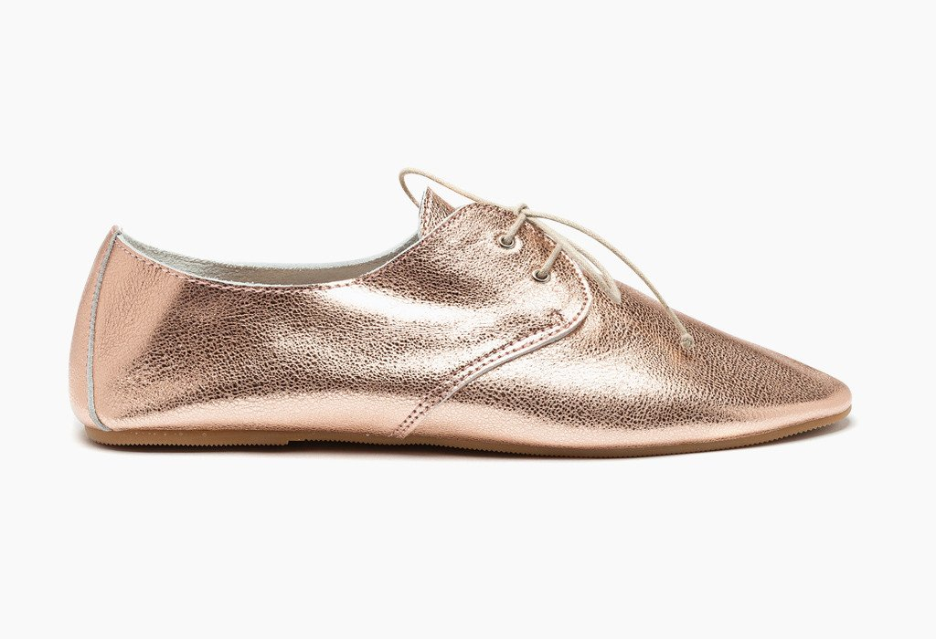 Hobes shoes | metallic copper