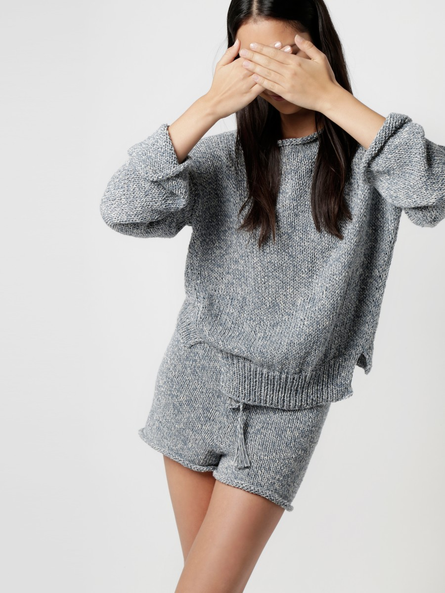 Wool Sweater and Shorts by Wool and the Gang