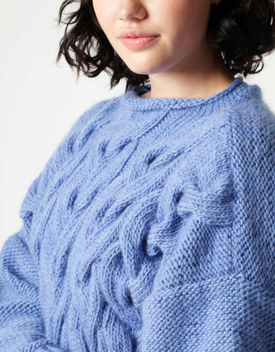 Cable Sweater Knit Kit by Wool and the Gang