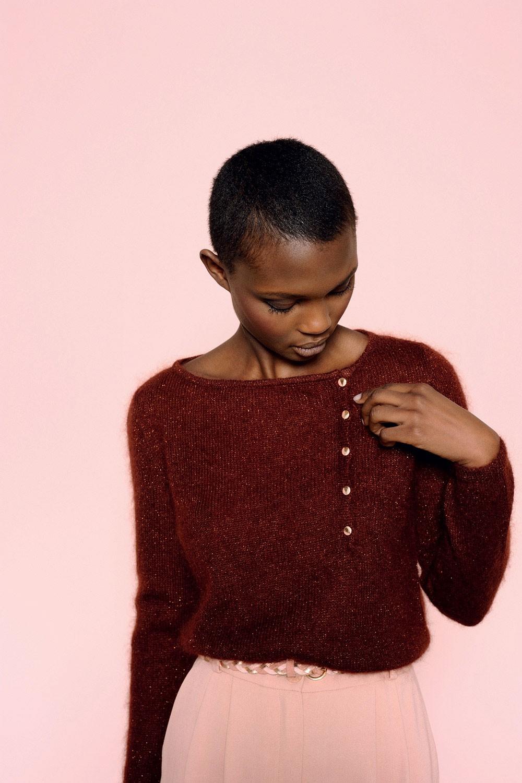 Des Petits Hauts | Burgundy Mohair Sweater