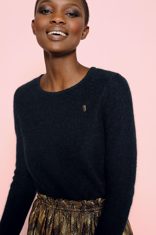 Des Petits Hauts | Navy Mohair Sweater