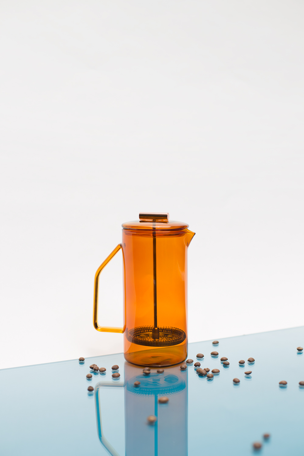 Yield | colored glas french press
