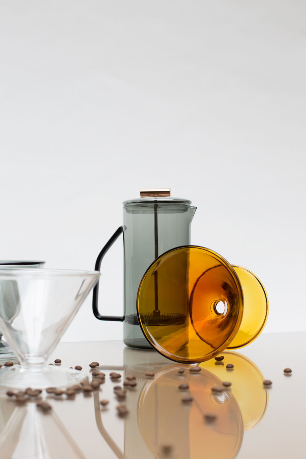 Yield | colored glas french press & pour over
