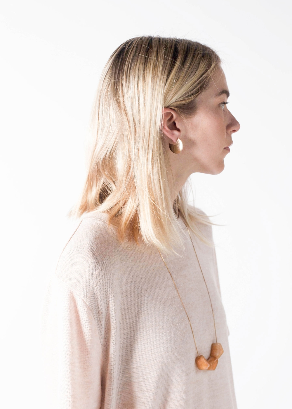 Yield | modern earrings and necklace