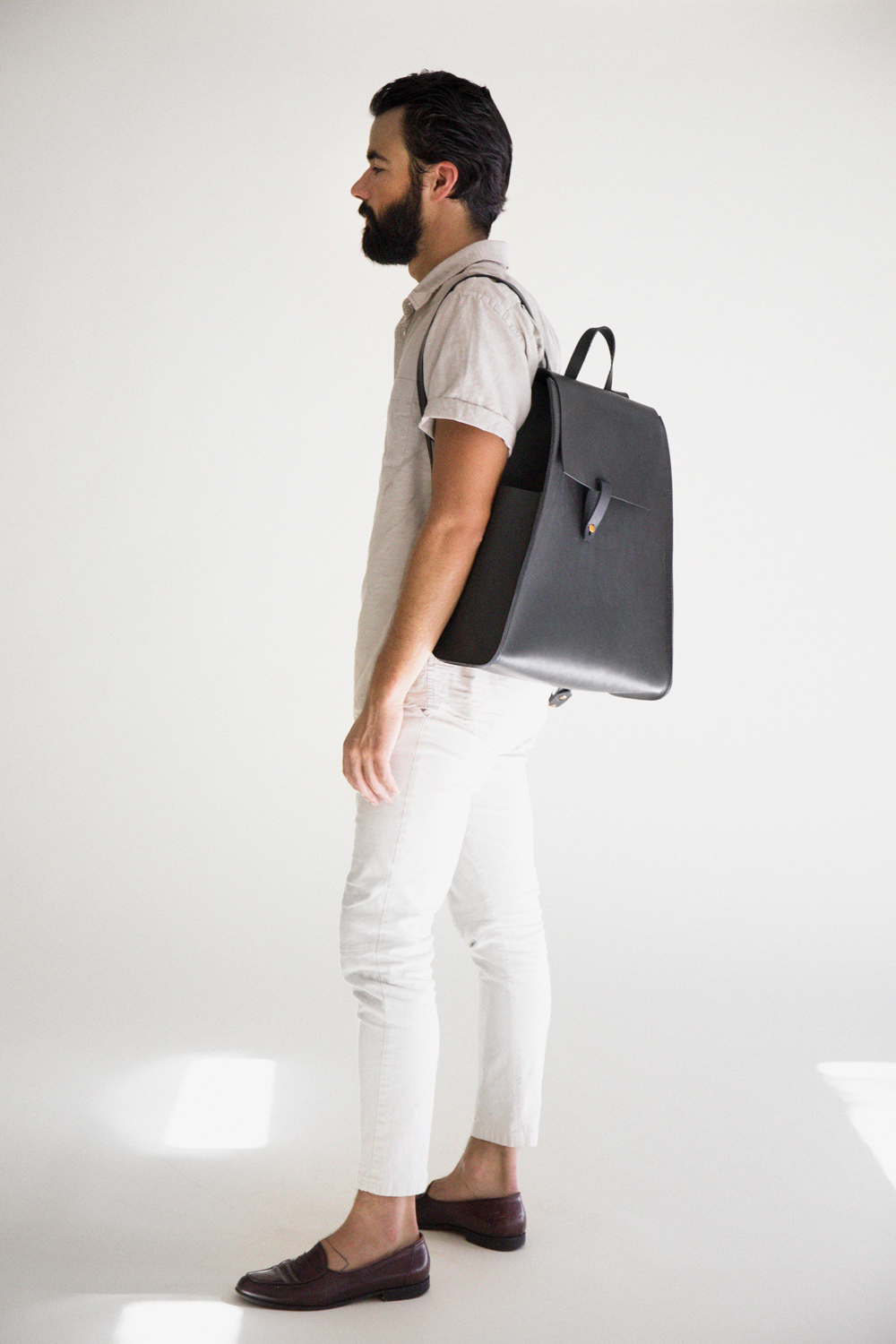 Yield | simple leather backpack for men