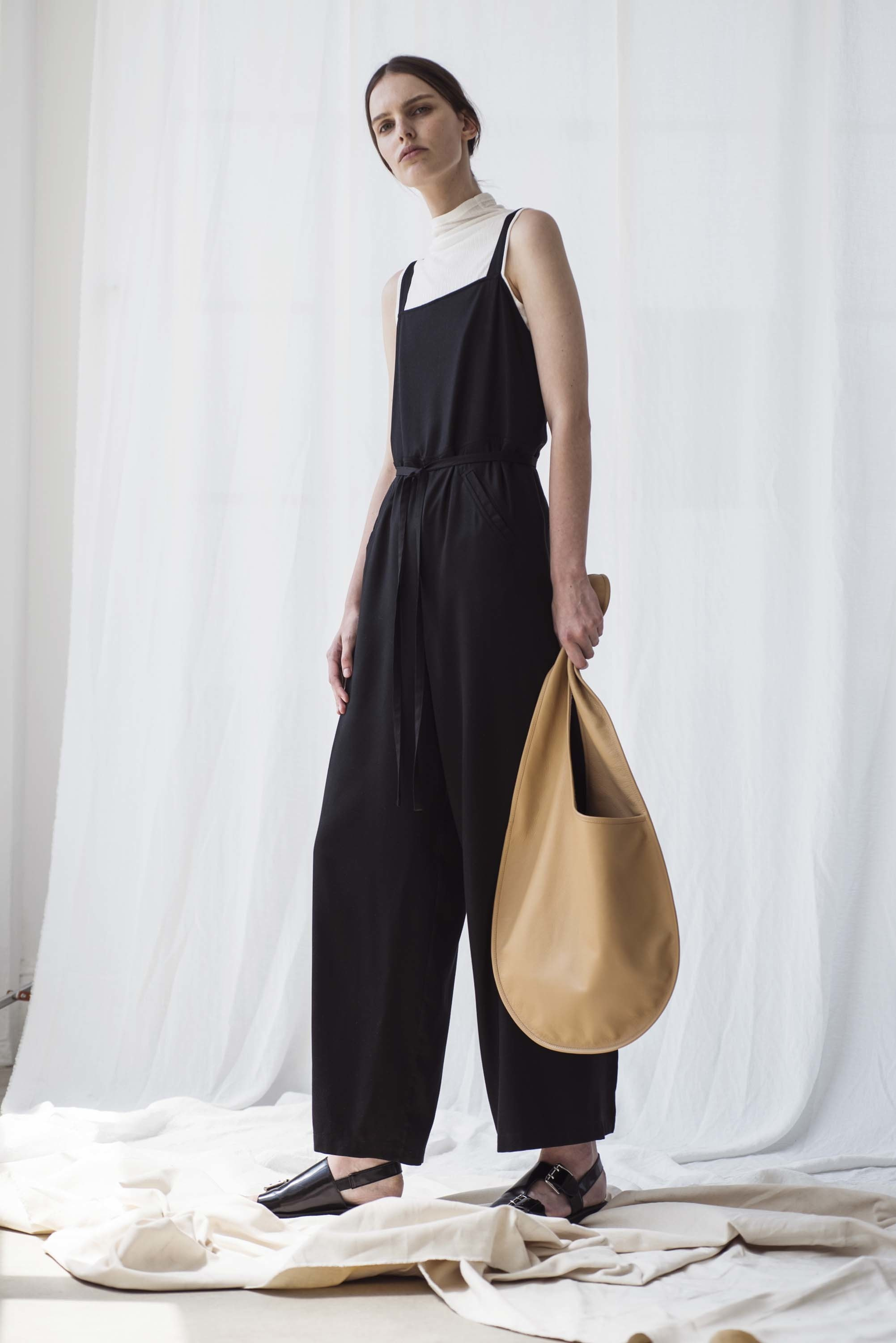 Shaina Mote | simple black jumpsuit