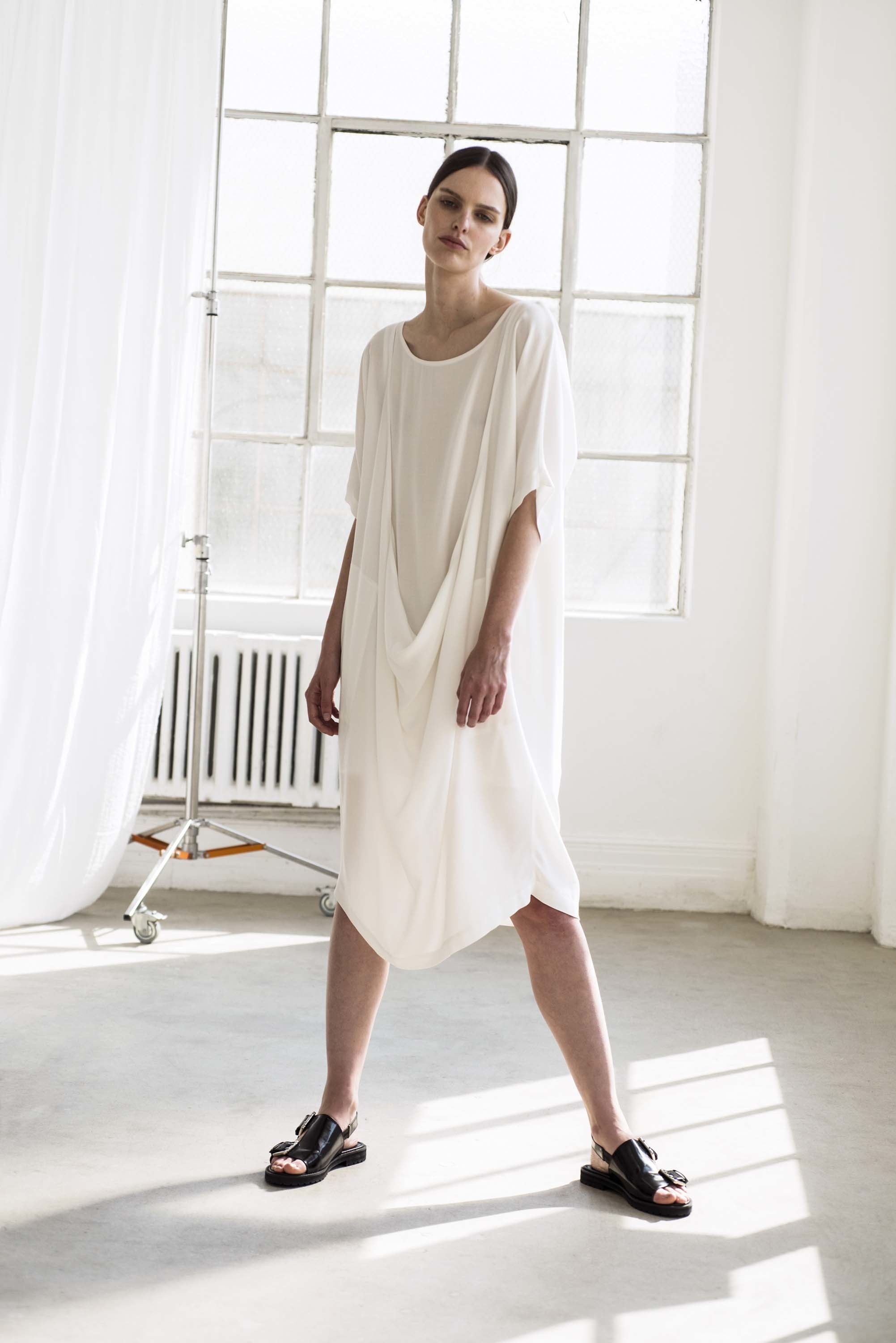 Shaina Mote | white airy summer dress