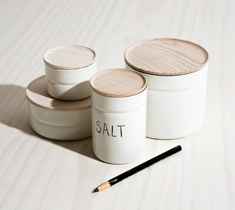 Enamel canisters for the kitchen | Joinery NYC
