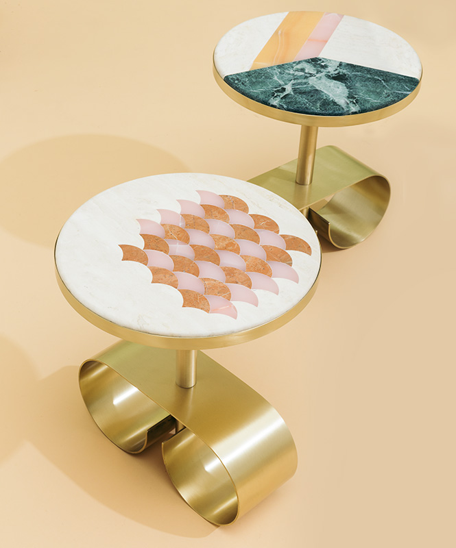 Cristina Celestino | marble pattern coffee tables
