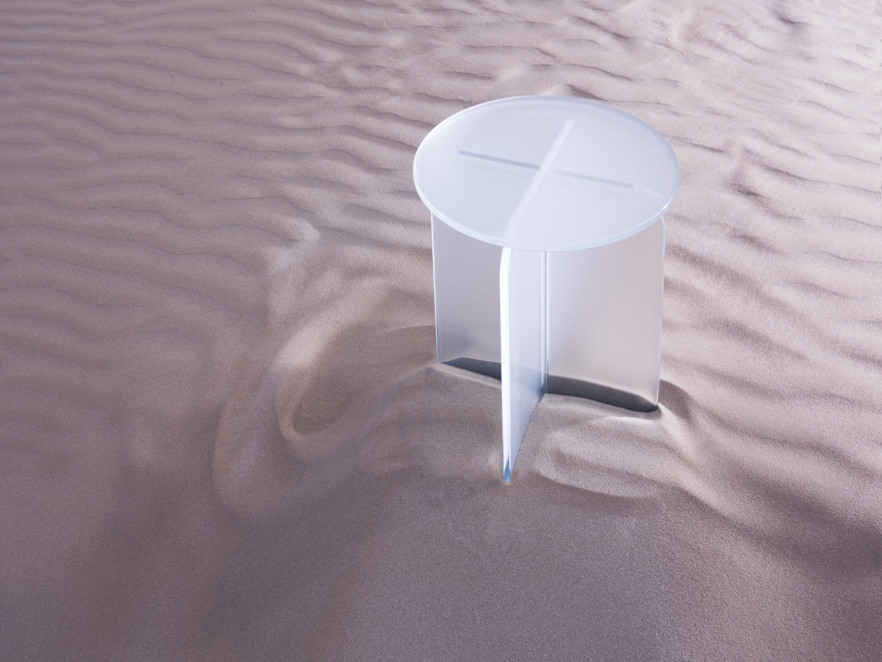 Cristina Celestino | Opalina mirror for Tonelli | silky glas
