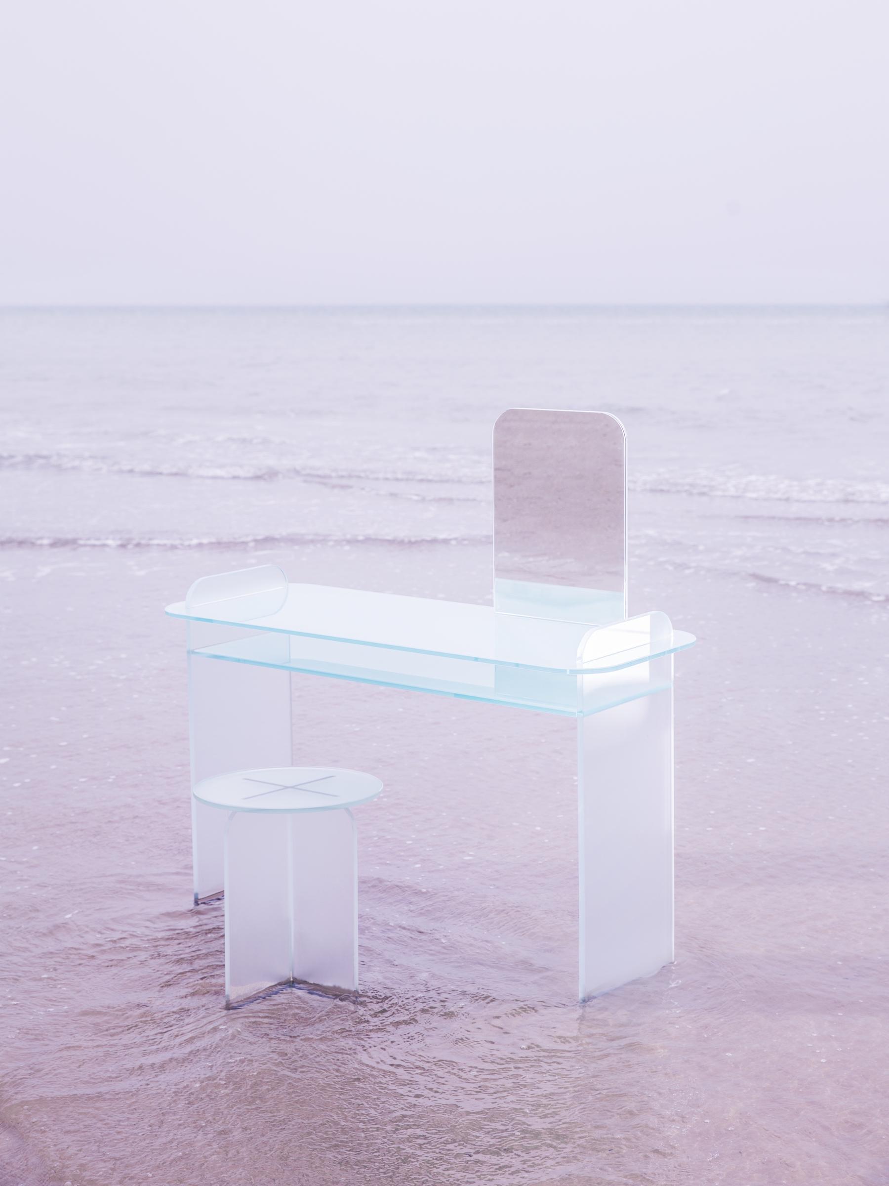 Cristina Celestino | Opalina mirror for Tonelli | translucent glas
