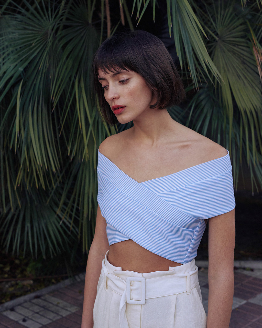 Nanushka | Sarong inspired wrap top