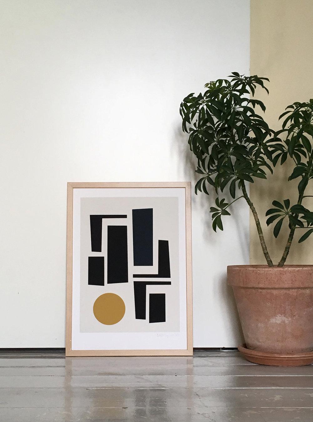 geometric figures print | art for the home by Berit Mogensen Lopez