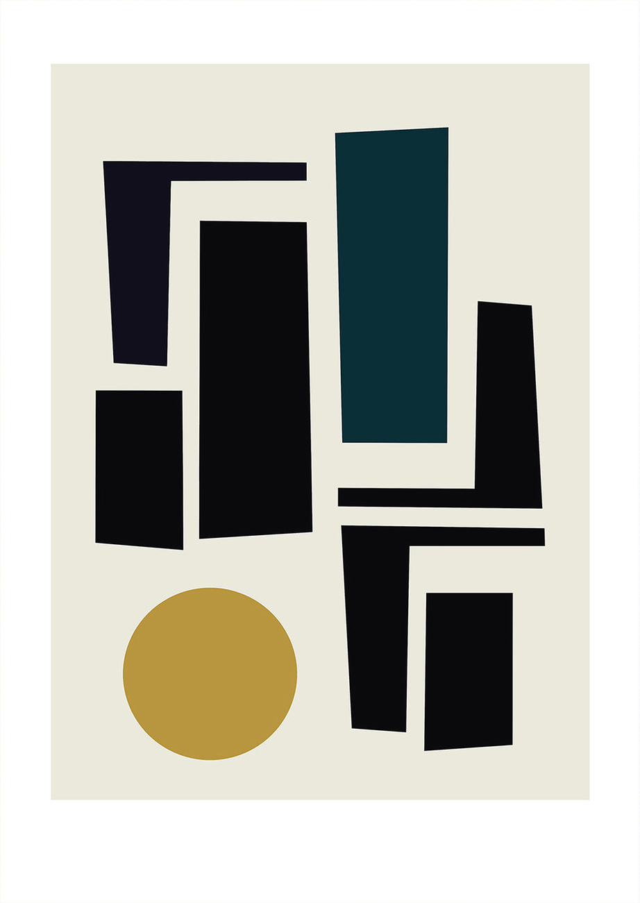 geometric figures print | art for the home